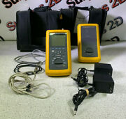 Fluke Dsp-100 Lan Cablemeter And Dsp-sr Smart Remote W/ Accessories