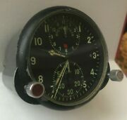 Great Russian Soviet Ussr Military Air Force Aircraft Cockpit Clock Achs-1