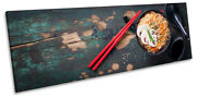 Chop Sticks Asian Food Kitchen Print Panorama Canvas Wall Art Picture