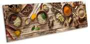 Spices Bowls Wooden Print Panorama Canvas Wall Art Picture