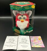Vintage Furby Box Holiday Christmas Special Limited Edition Series 1999 Tiger