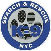Nyc K-9 Search And Rescue Reflective Or Matte Vinyl Decal Sticker Police Fire