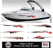 Boat Graphic Stripes Vinyl Decal Stickers Rv Truck Trailer Boat Stripes