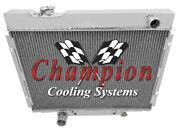 4 Row Performance Champion Radiator For 1967 68 69 1970 Ford Mustang V8 Engine