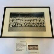 1948 New York Yankees Old Timers Day Signed Large Photo 1920and039s-40and039s Legends Jsa