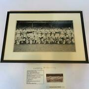1948 New York Yankees Old Timers Day Signed Large Photo 1920's-40's Legends Jsa