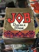 Job - Double Wide Vintage Cigarette Rolling Papers Full 1970's Box Rare L@@k