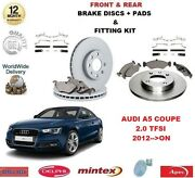 For Audi A5 Coupe Quattro 2.0 Tfsi 2012on Front + Rear Brake Discs + Pads Kit