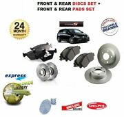 For Honda Civic Type S 2.0 2004-2006 Front And Rear Brake Discs And Disc Pads Set
