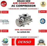 Denso Air Conditioning Ac Compressor Oem 8837048030 For Lexus Rx Brand New Unit