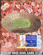 1965 51st Rose Bowl Game Official Program And Ticket Stub Michigan Vs Oregon State