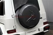 Fit G Class Wagon W463 W464 Carbon Fiber Spare Tire Cover Trim Tops Style