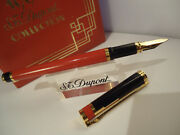 S.t. Dupont Art Deco Fountain Pen - 1996 Limited Edition - Lacquer - Cased