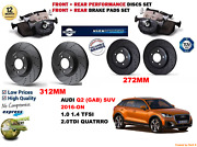 For Audi Q2 Todoterreno Gab 16-on Front And Rear Performance Brake Discs Set+pads