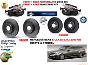 For Merc E350 Estate 2009- Front And Rear Performance Brake Discs Set + Pads Kit