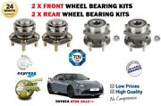 For Toyota Gt86 2.0 Coupe Fa20 2012- New 2x Front + 2x Rear Wheel Bearing Kits