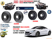 For Peugeot Rcz 2.0hdi 10-on Front And Rear Performance Brake Discs Set + Pads Kit