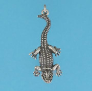 Alligator Necklace - Choice Of Chain And Length-gold Fill Or Sterling Silver