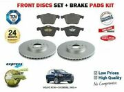 For Volvo Xc90 + D5 Diesel 2002 Front Brake 335mm Discs And Disc Pads Set Kit