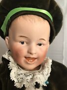 Antique Bisque And Compo Heubach German Laughing Boy Baby Doll 11 Size Mold 7604