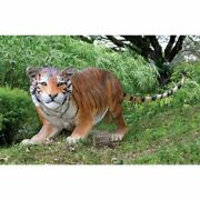 30h Grand Scale Wildlife Animal Bengal Tiger Statue By Design Toscano