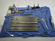 Lot Of Vintage Dental Dentist Instruments Equipment Tools Drill Wire Clamps