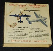 1940-1941 Sweet Caporal Cigarette Empty Pack - Aircraft Spotter C271a Series 12