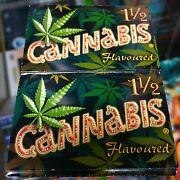 Cannabis - Printed Cigarette Rolling Papers Sealed Box Rare L@@k