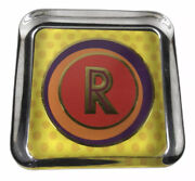 Punch Studio Gold Embossed Initial Letter P Paperweight Thick Glass Monogram P