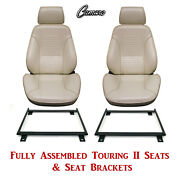 Standard Touring Ii Fully Assembled Seats And Mount Brackets 1969 Camaro-any Color
