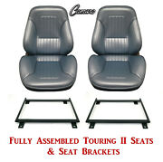 Standard Touring Ii Fully Assembled Seats And Brackets 1967 Camaro - Any Color