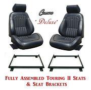 Deluxe Touring Ii Fully Assembled Seats And Brackets 1969 Camaro - Any Color