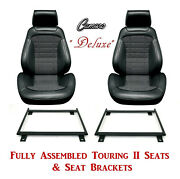 Deluxe Touring Ii Fully Assembled Seats And Brackets 1968 Camaro - Any Houndstooth