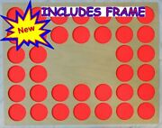 36 Poker Chip Frame No Cut Out For Casino/harley Davidson Display With Frame