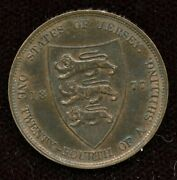 1877h Jersey Bronze 1/24 Shilling Mint State With Lustre