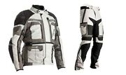 Rst Pro Series 2020 Adventure-x Grey/silver Textile Motorcycle Jacket And Trouser