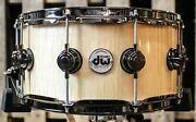 Dw Collectorand039s Curly Maple Exotic Cherry Shell Hvlt 6.5x14 Snare - So1157709