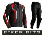 Rst Axis 2021 Black/red/white Ce Menand039s Leather Budget Jacket And Trousers 2pc Set