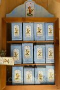 Disney Classic Pooh 12 Calendar Figurines In Boxes And Display Case