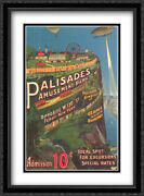 Palisades Park 2x Matted 28x40 Extra Large Framed Art Print