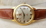 Vintage Rare Rado Electric Automatic Steel / Gold Plated Red Date Mens Watch