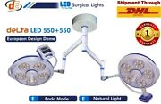 Shadowless Led Surgical Ceiling Ot Lights Operation Theater Lamp Double 550+550