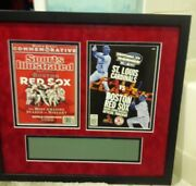 Boston Red Sox 2004 World Series Framed Sports Illustrated. And Program