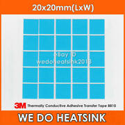 100pcs 3m 8810 2020mm Blue Thermal Double Sided Adhesive Heatsink Cooler Pads