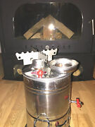 Picnic Samovar Camping Tent Tea Kettle Water Heater Wood Stove + Cooking Stand