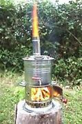 Picnic Samovar Wood Coal Stove Camp Water Heater Barbecue Tent