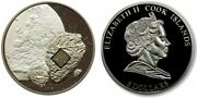 Cook Islands 2008 5 Pultusk Meteorite Palladium Plated Proof Silver Coin