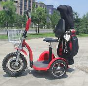 Zappy 1000w/48v Electric Golf Cart 3 Wheel Scooter 20-22mph Brand New
