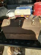 Vintage Kennedy 1017 Industrial Cantilever Metal Machinist Mechanic Toolbox With