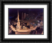Grant Wood 2x Matted 24x20 Framed Art Print 'the Midnight Ride Of Paul Revere'